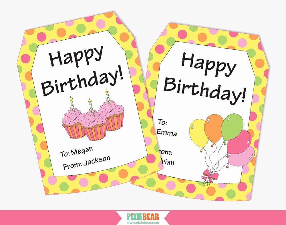 Printable Birthday Gift Tags Beautiful Personalized Birthday Tags Birthday Gift Tags Happy