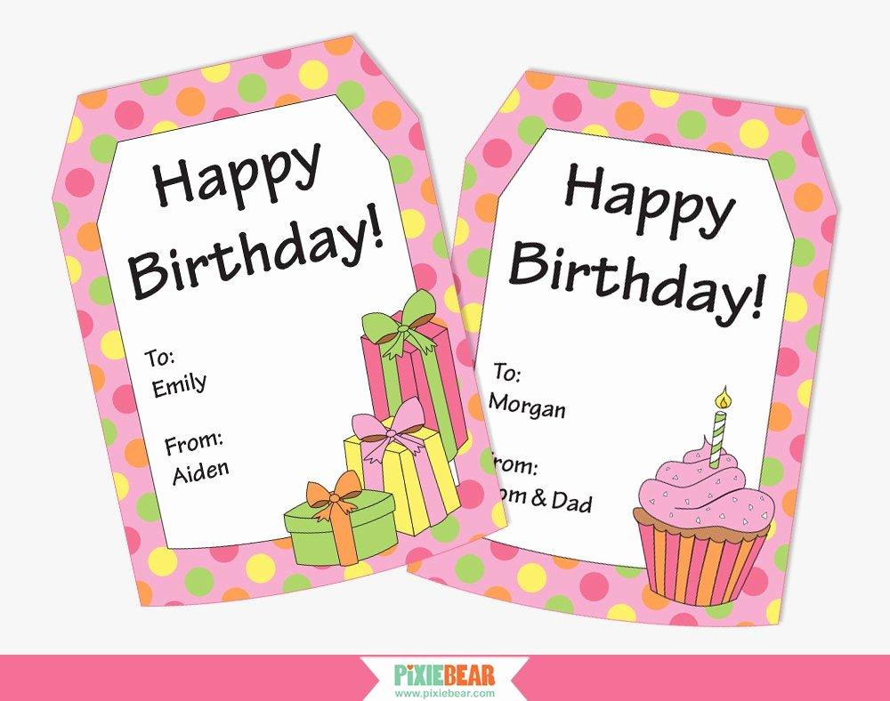 Printable Birthday Gift Tags Fresh Birthday Gift Tags Personalized Gift Tags Personalized