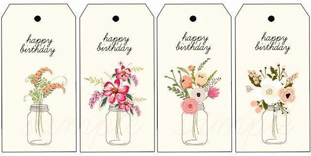 Printable Birthday Gift Tags Fresh Floral Printable Birthday Gift Tags Live Laugh Rowe