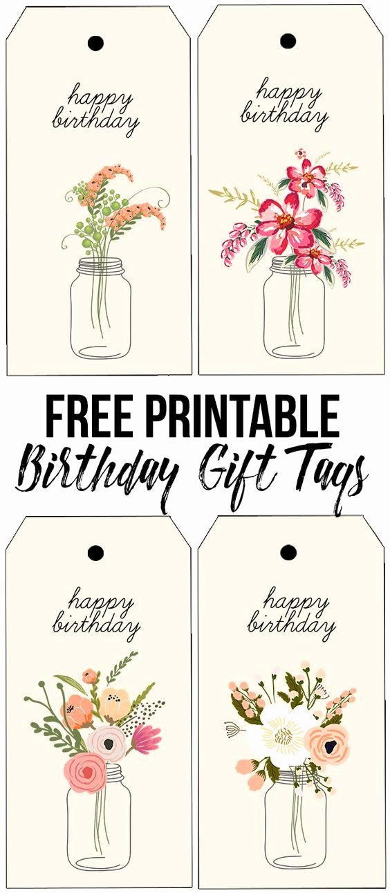 Printable Birthday Gift Tags Inspirational 1000 Ideas About Floral Printables On Pinterest