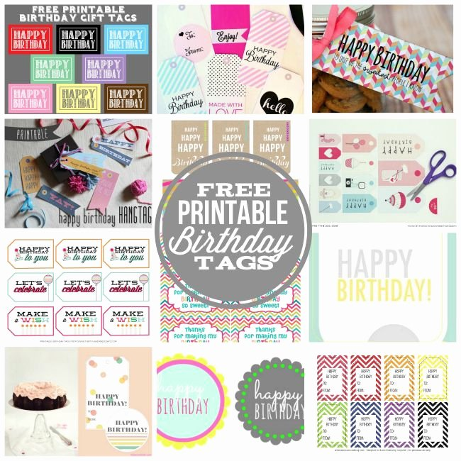 Printable Birthday Gift Tags Inspirational Need A Cute Tags to attach to A Fun Birthday T I