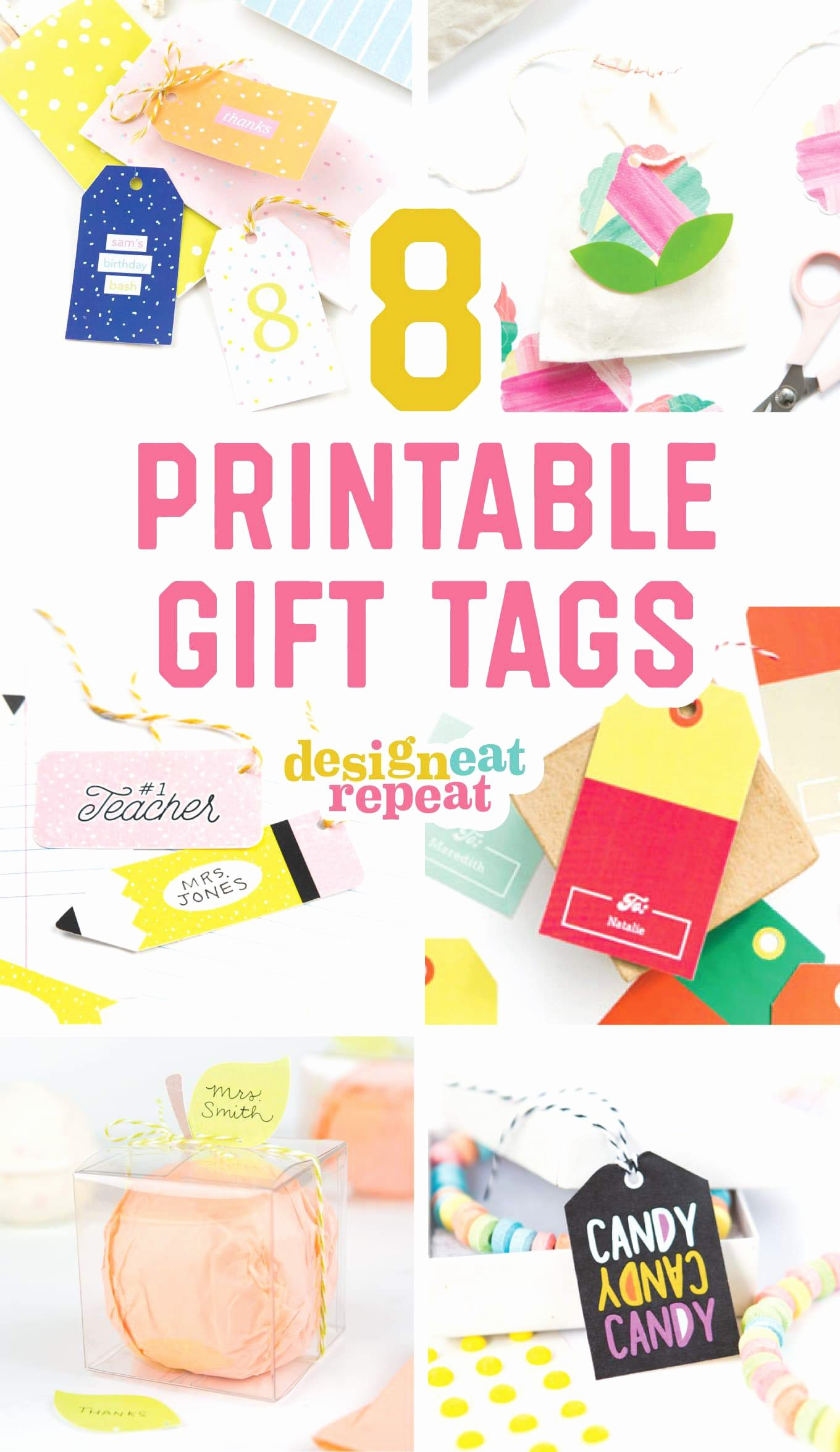 Printable Birthday Gift Tags Luxury 8 Colorful & Free Printable Gift Tags for Any Occasion