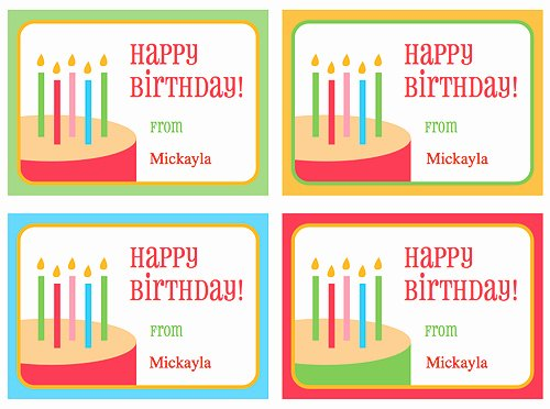 Printable Birthday Gift Tags New Free Birthday Gift Tags 24 7 Moms