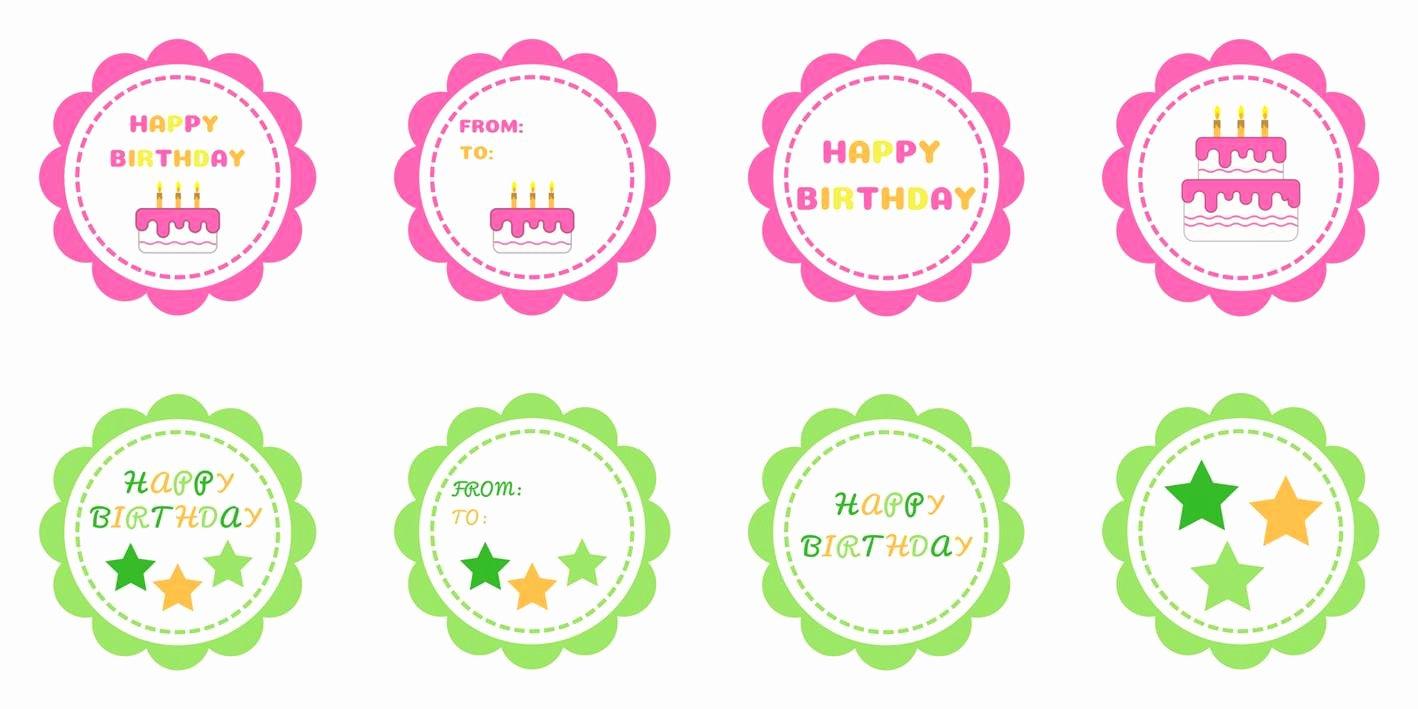 Printable Birthday Gift Tags New Happy Birthday T Tags Free Printable