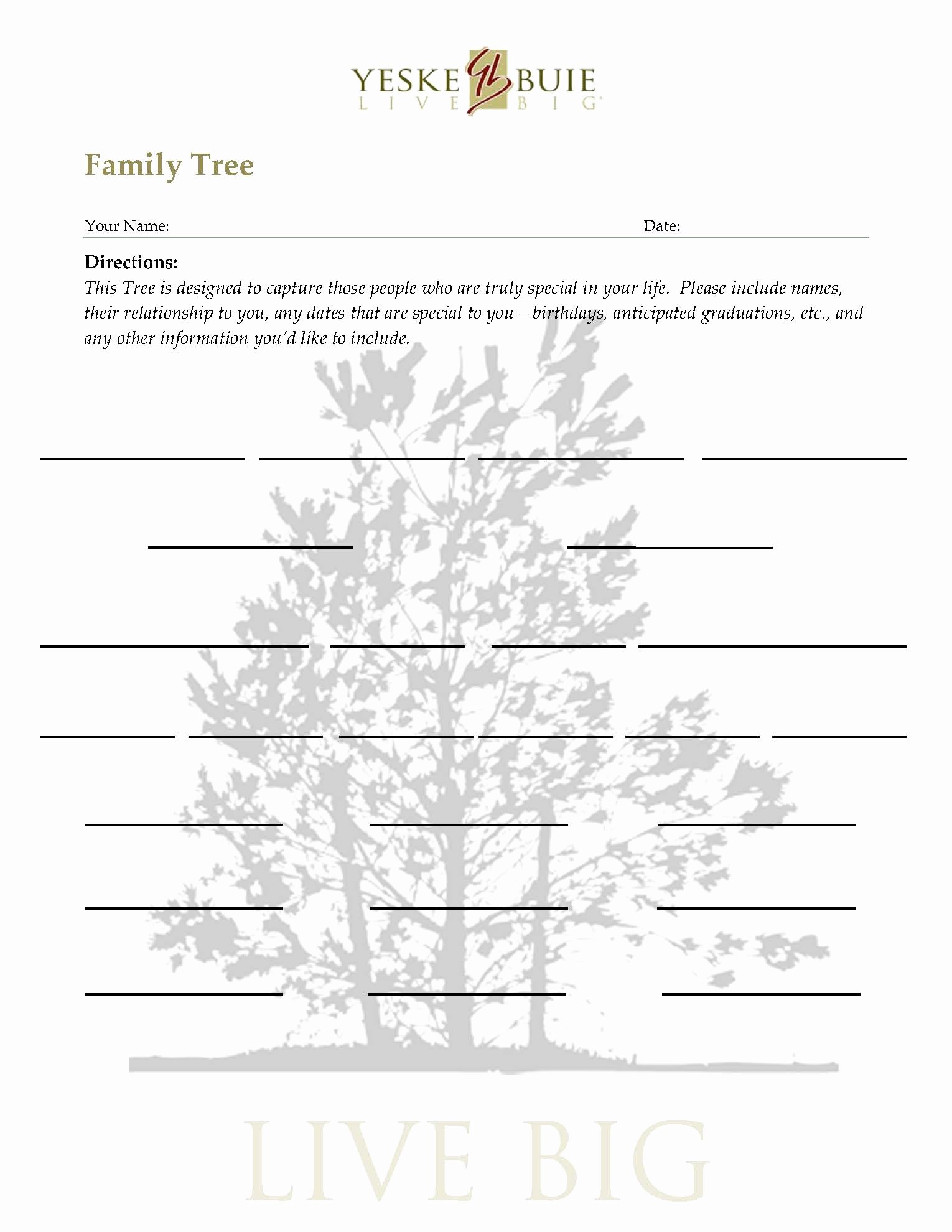 Printable Blank Family Tree Luxury Climbing the Family Tree