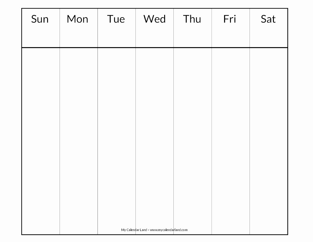Printable Blank Weekly Calendar Awesome Blank Calendar Printable My Calendar Land