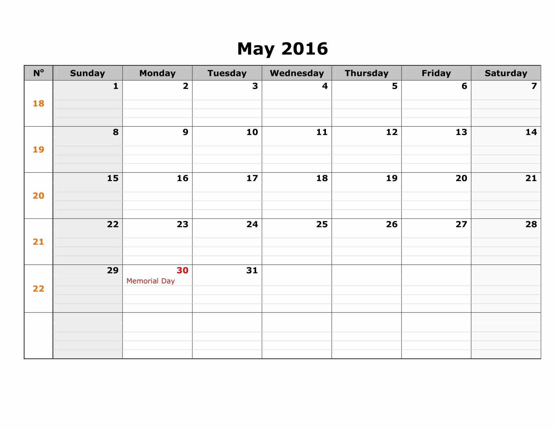 Printable Blank Weekly Calendar Inspirational May 2017 Weekly Printable Calendar