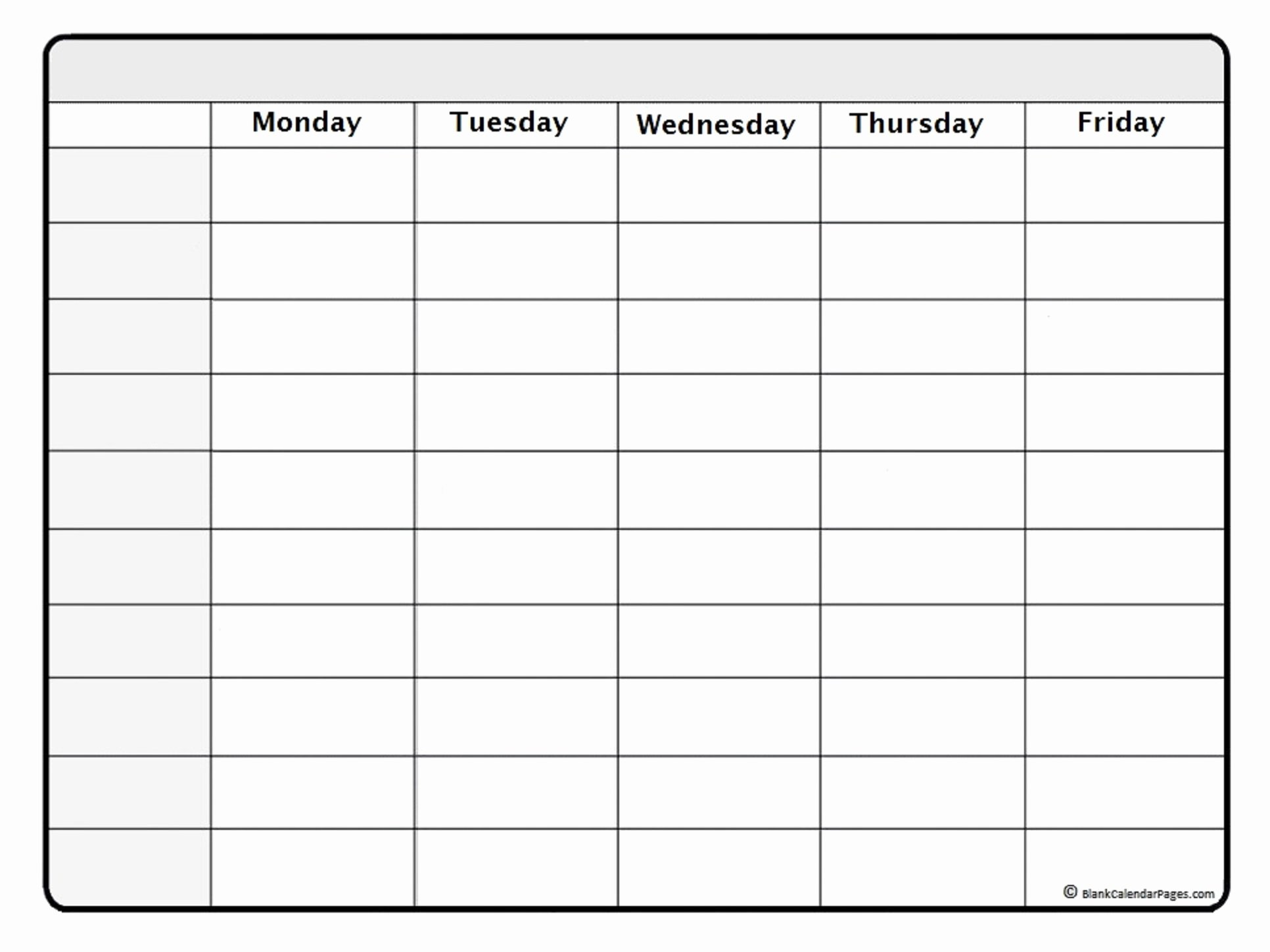Printable Blank Weekly Calendar New October 2019 Weekly Calendar