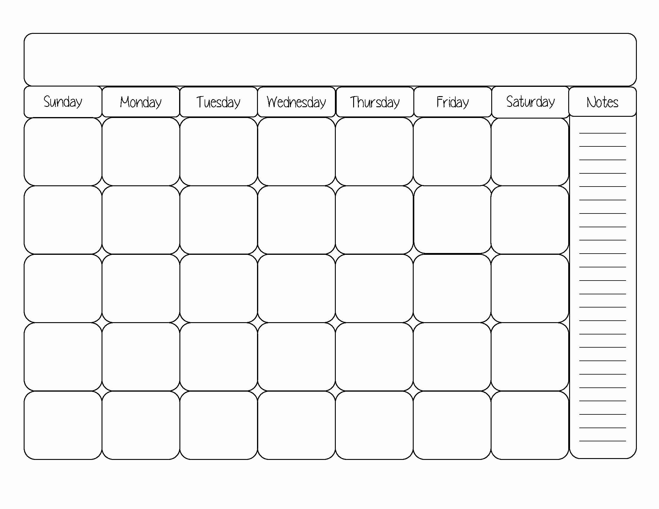 Printable Blank Weekly Calendar Unique Blank Calendar Template Cute Printable Editable Blank