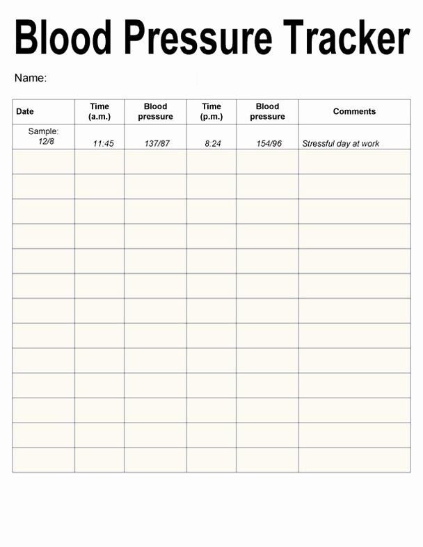 Printable Blood Pressure Range Chart Elegant Blood Pressure Chart Printable 10