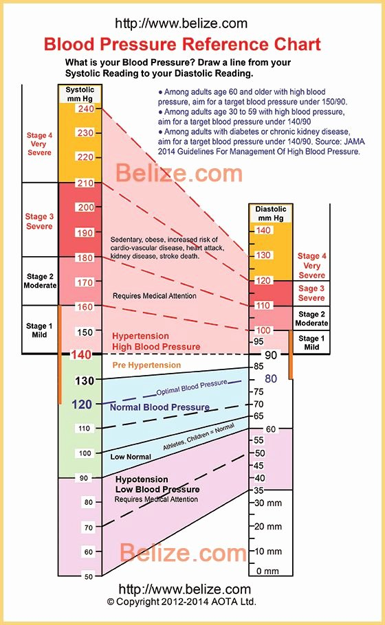 Printable Blood Pressure Range Chart Fresh Blood Pressure Chart