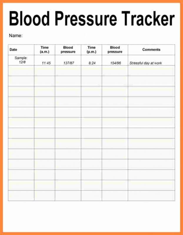Printable Blood Pressure Range Chart New Blood Pressure Recording Charts