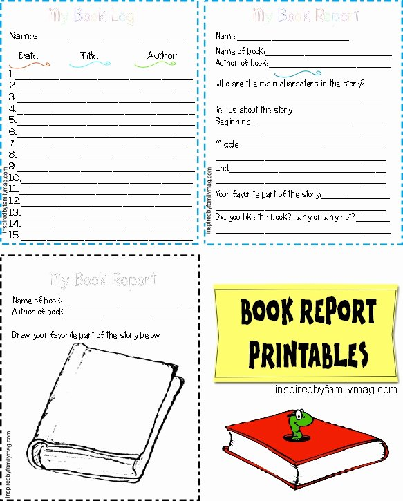 Printable Book Report forms Beautiful Printable Book Report forms Elementary Inspired by Family