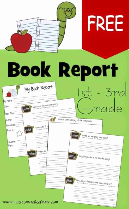 Printable Book Report forms Fresh Free Book Report Template