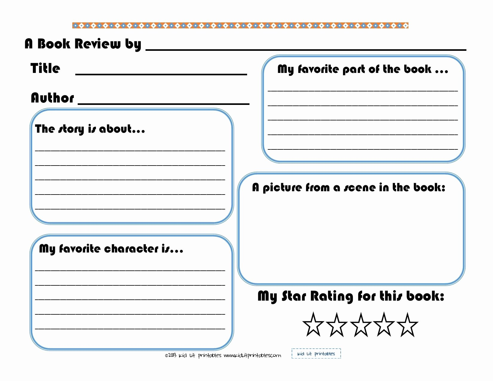 Printable Book Report forms New 3 Levels Of Free Printable Book Reports From Kid Lit