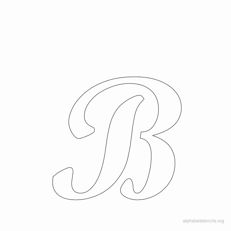 Printable Bubble Letter Stencils Best Of Print Free Alphabet Stencils Cursive B Cj