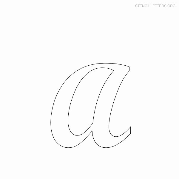 "Printable Bubble Letter Stencils Inspirational Letter ""a"" In Bubble Stencil"