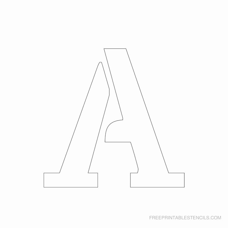 Printable Bubble Letter Stencils Inspirational Printable 3 Inch Letter Stencil A Has Full Alphabet
