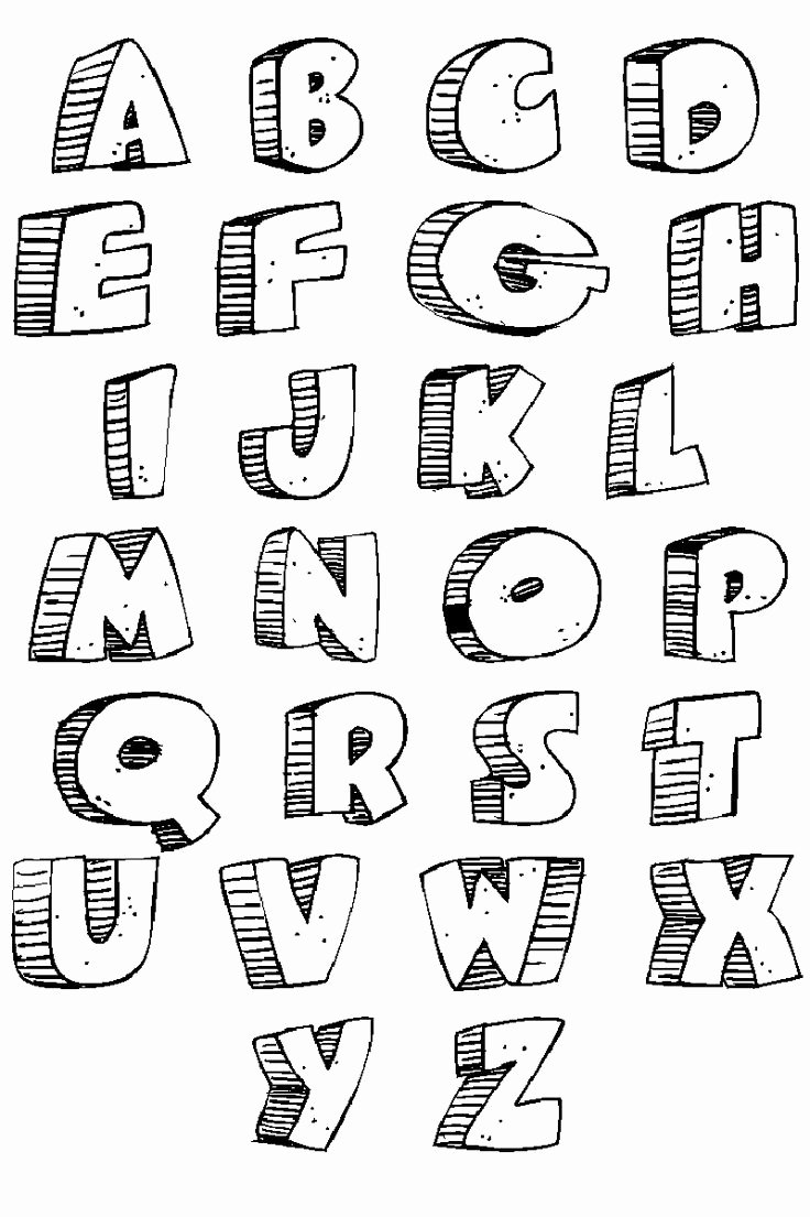 Printable Bubble Letters Font Awesome Free Printable Bubble Letters the Alphabet Tattoo Page