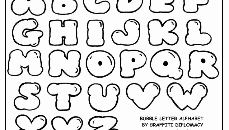 Printable Bubble Letters Font Lovely 21 Best Traceable Letters Images On Pinterest