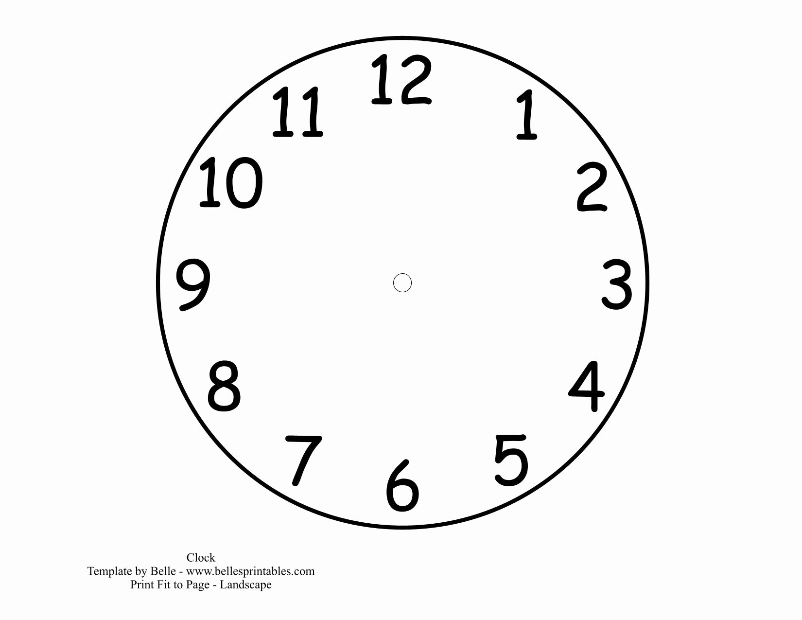 Printable Clock Face Template Awesome 12 Best Of Clock Cut Out Worksheet Grouchy