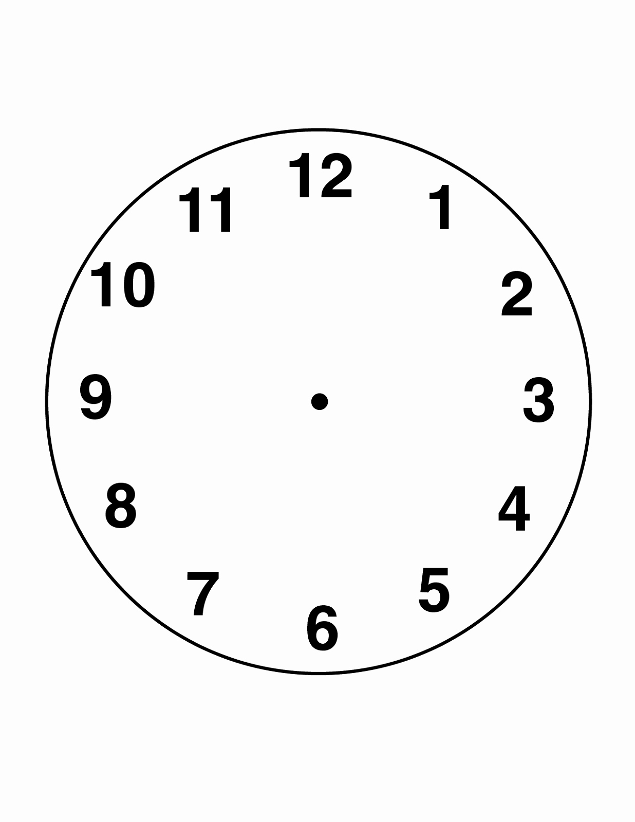 Printable Clock Face Template Awesome Clock Face Printable for Media Reading Clock