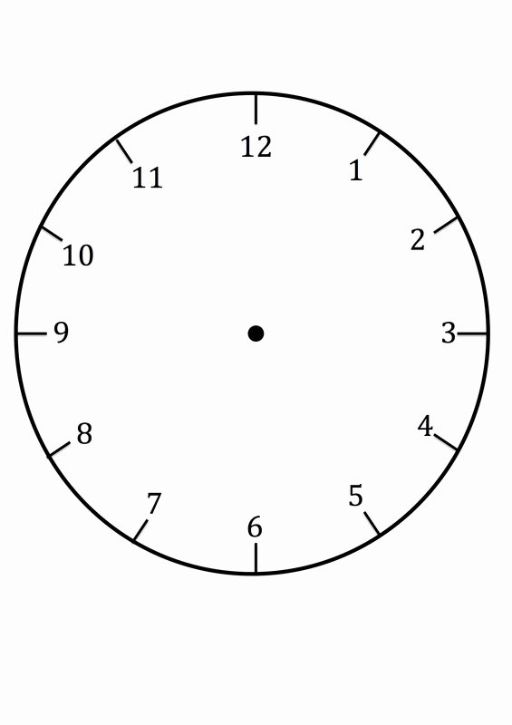 Printable Clock Face Template Beautiful Clock Faces for Use In Learning to Tell the Time
