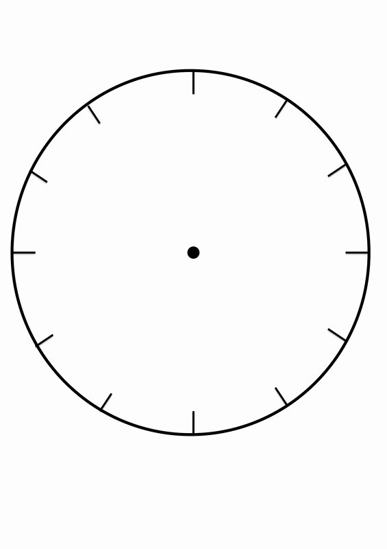 Printable Clock Face Template Best Of Clock Faces for Use In Learning to Tell the Time