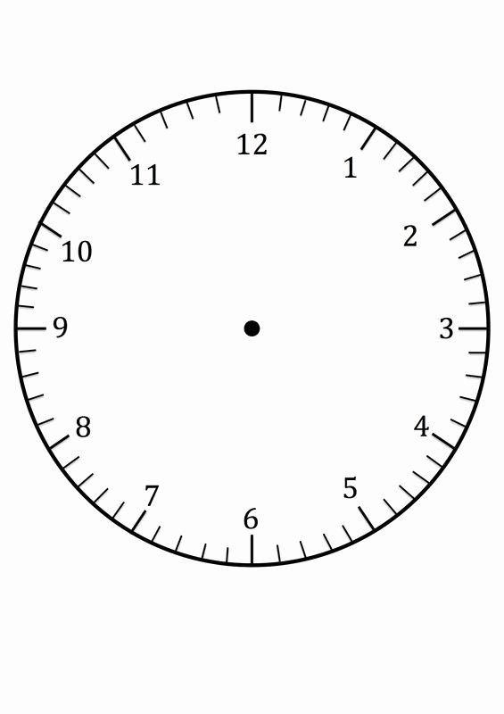 Printable Clock Face Template Fresh Free Printable Clock Face Template for Learning to Tell