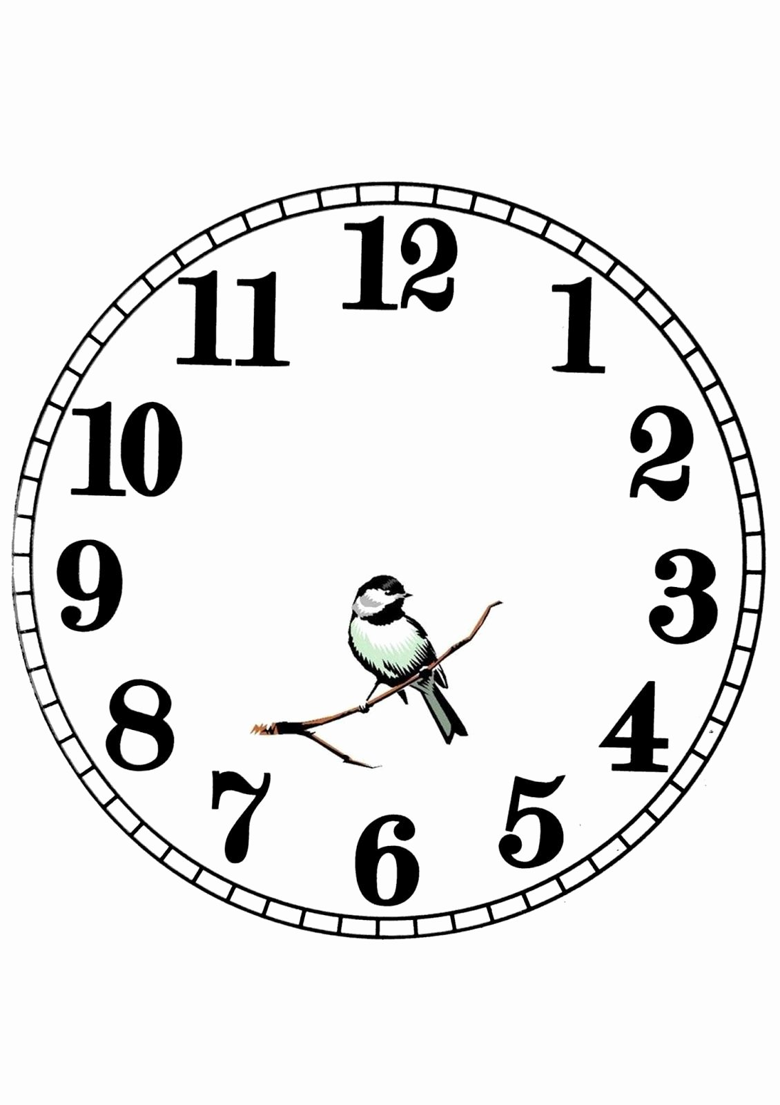 Printable Clock Face Template Fresh Pin by Deirdre P On Printables Transfers Monotone