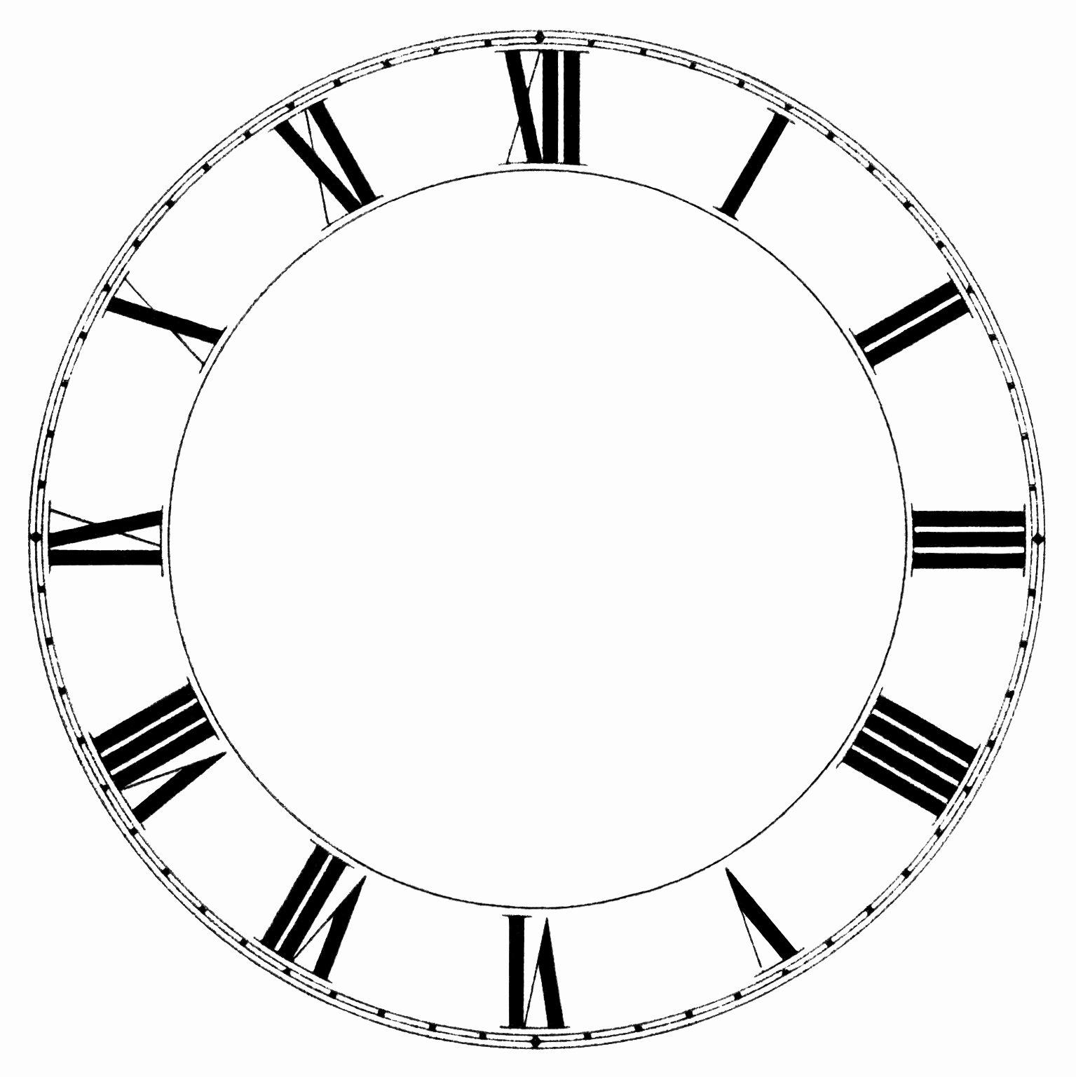 Printable Clock Face Template Lovely Roman Numeral Clock Old Design Shop Blog