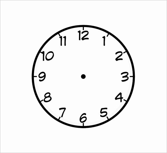 Printable Clock Face with Hands Fresh 17 Printable Clock Templates Pdf Doc