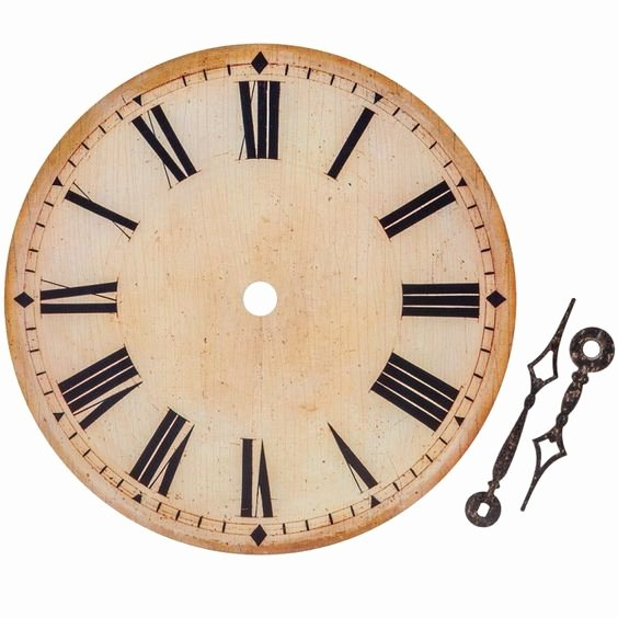 Printable Clock Face with Hands Inspirational Antique Ivory Clock Face with Hands Roman Numerals 6