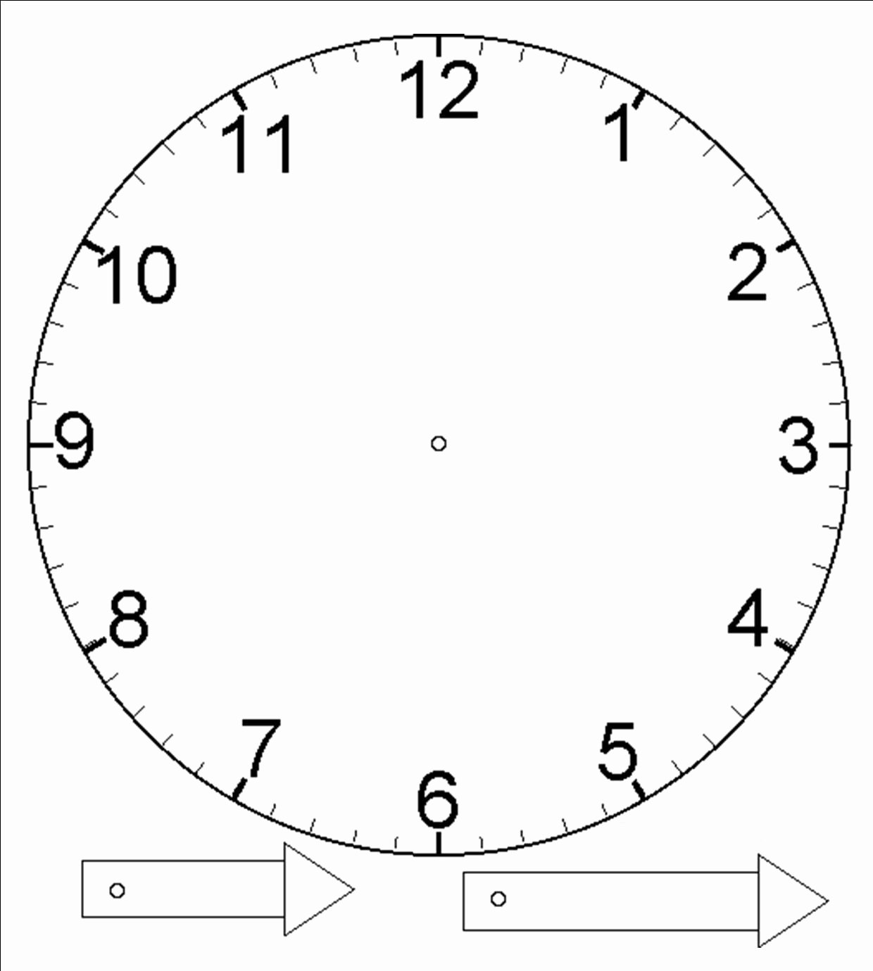 Printable Clock Face with Hands Lovely Template for Clock with Moveable Hour and Minute Hand