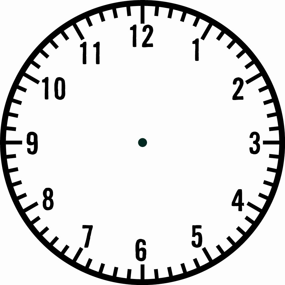 Printable Clock Face with Hands Unique Blank Clock Template