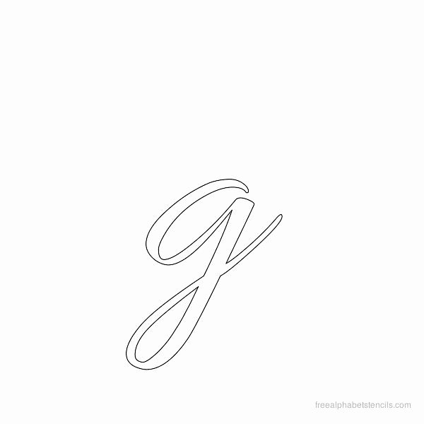 Printable Cursive Letter Stencils Unique Cursive Lower Case Stencils