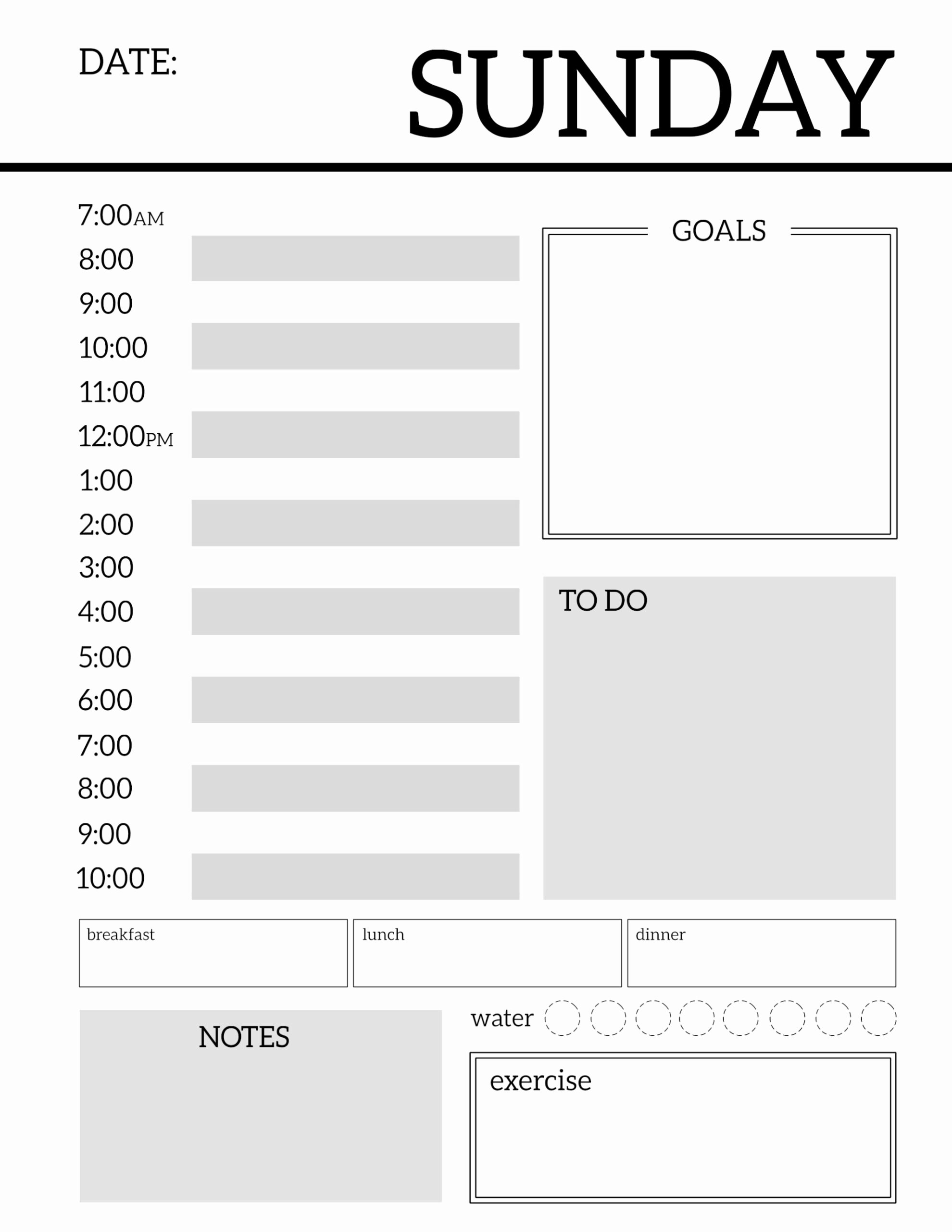Printable Daily Calendar Pages Awesome Daily Planner Printable Template Sheets Paper Trail Design