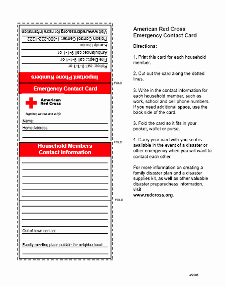 Printable Emergency Contact Card Beautiful First Aid Badge Emergency Contact Card