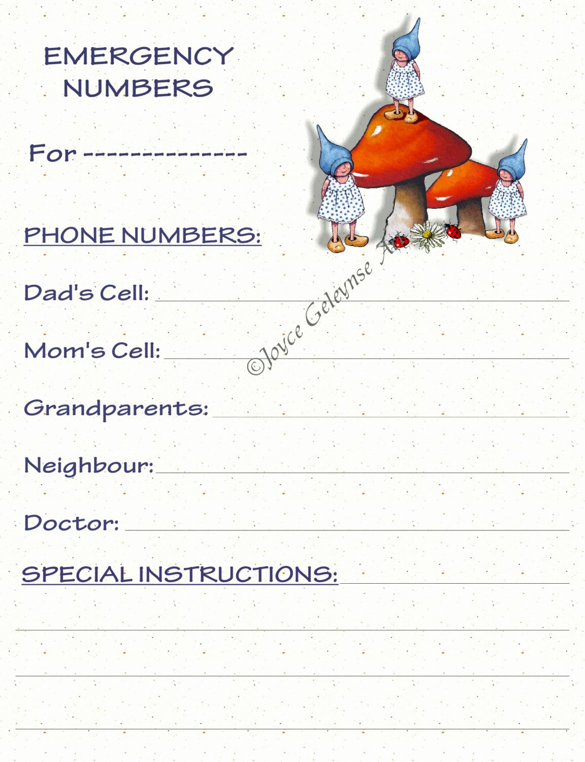Printable Emergency Contact Card Fresh Emergency Information Printable Card Day by Freshairprintables