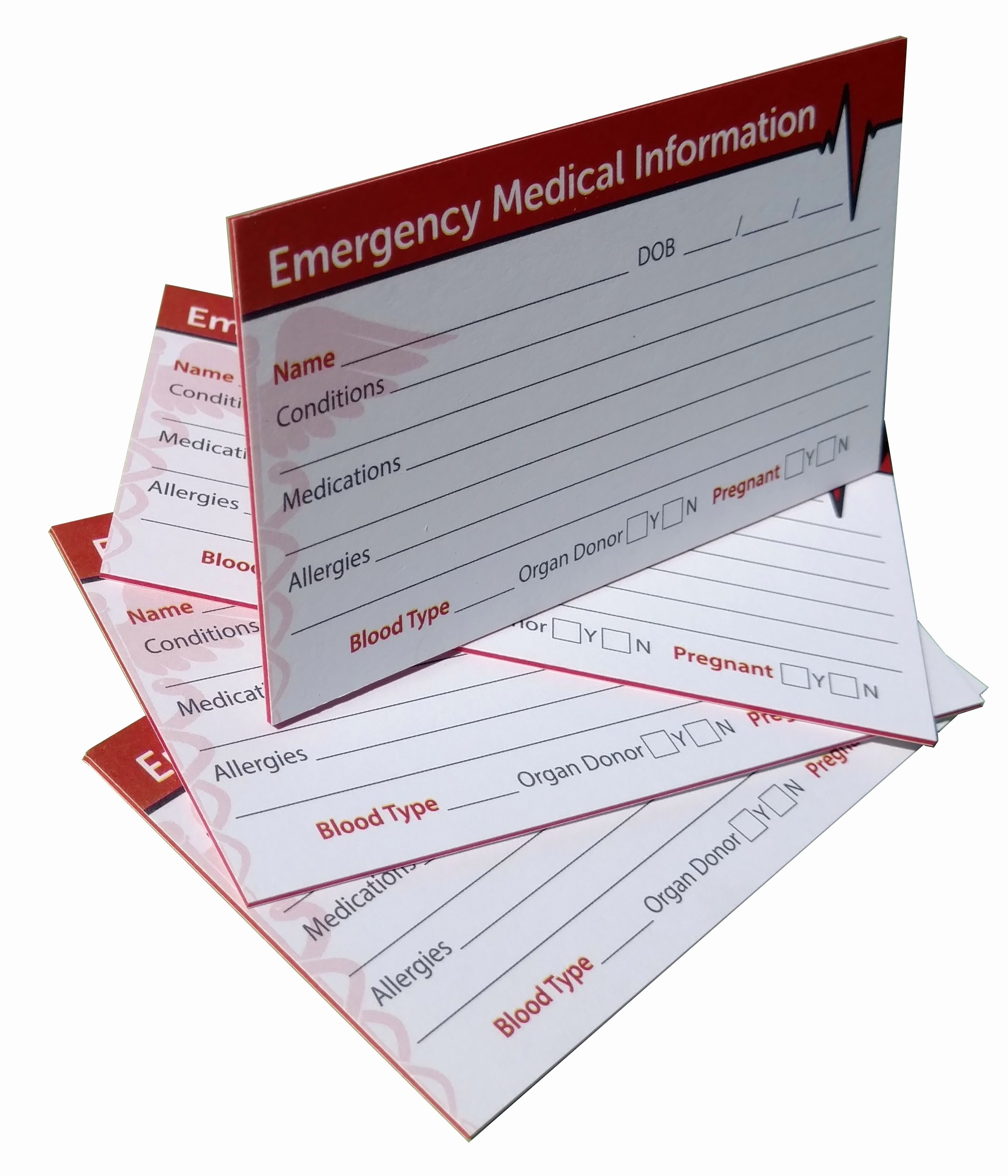 Printable Emergency Contact Card Inspirational Amazon In Case Of Emergency Contact Cards with
