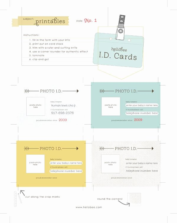 Printable Emergency Contact Card Lovely I D Cards What An Awesome Idea for Young tots Emergency