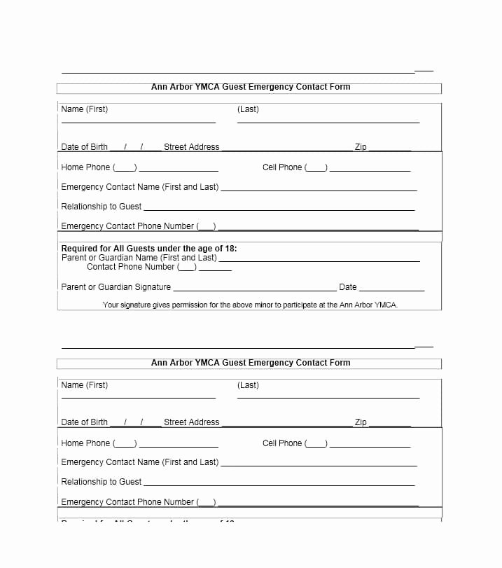 Printable Emergency Contact form New 54 Free Emergency Contact forms [employee Student]