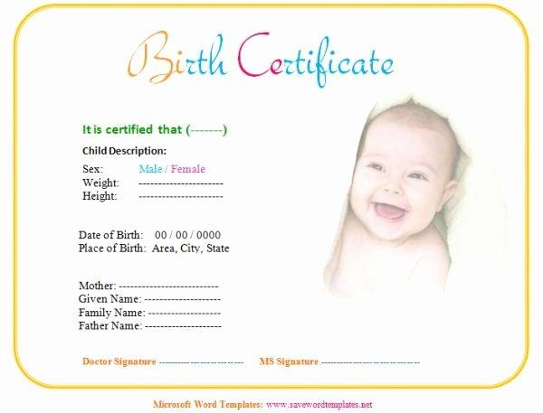 Printable Fake Birth Certificates Awesome Fake Birth Certificate Birth Certificate