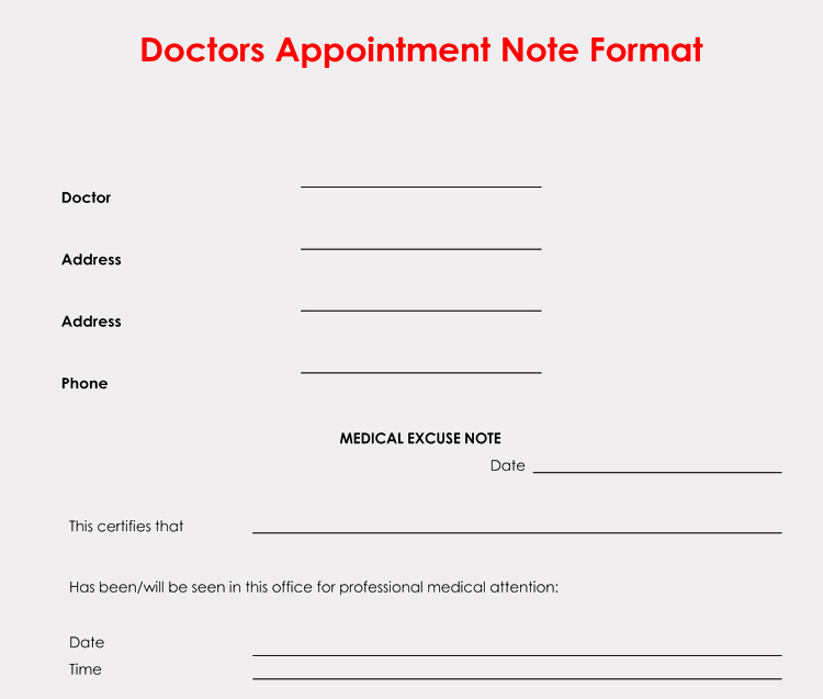 Printable Fake Doctors Notes Lovely 36 Free Fill In Blank Doctors Note Templates for Work