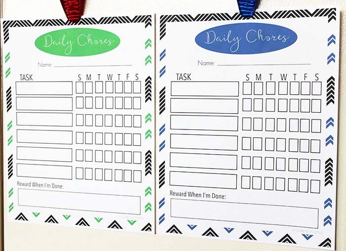 Printable Family Chore Chart Beautiful Free Printable Family Chore Chart Set with 6 Colors