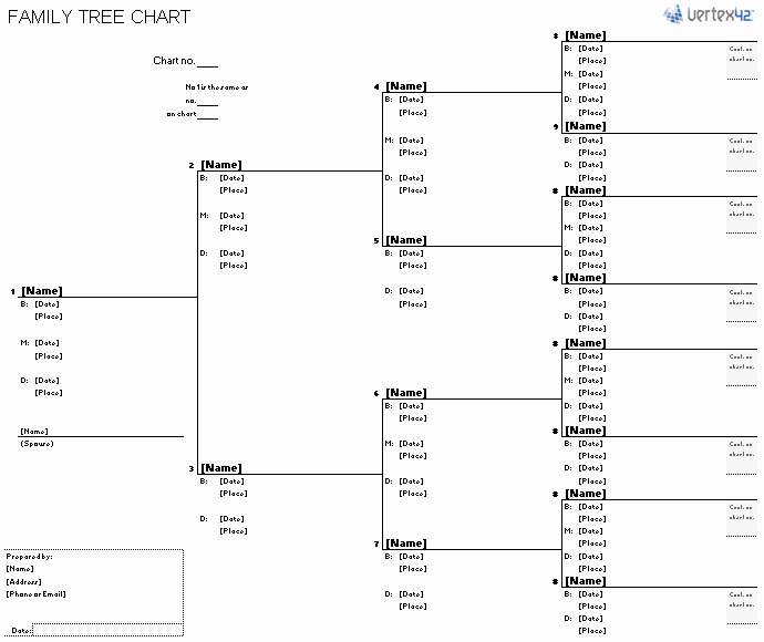 Printable Family Tree Charts Inspirational Free Family Tree Template