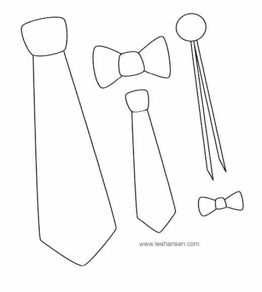 Printable Fathers Day Tie Awesome Father S Day Coloring Crafts