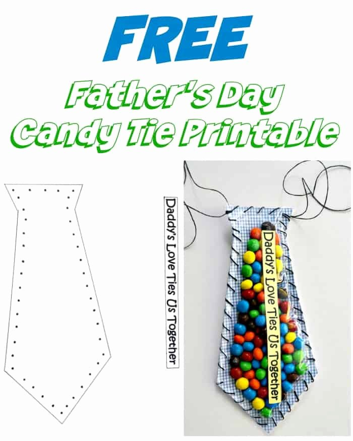 Printable Fathers Day Tie Elegant Father S Day Candy Tie Printable Craft