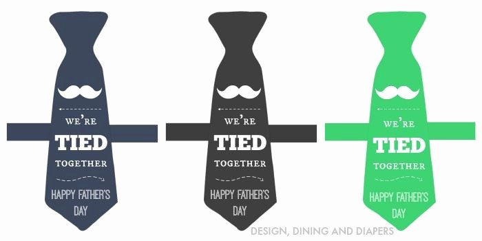 Printable Fathers Day Tie Elegant Father S Day Gift Idea Free Printable the 36th Avenue