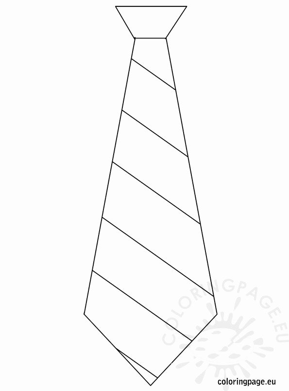 Printable Fathers Day Tie Elegant Father's Day – Template Tie – Coloring Page